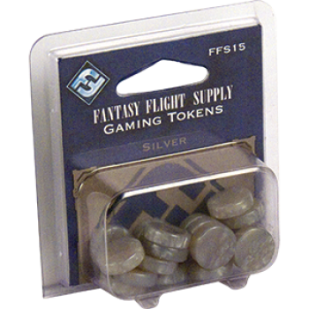 FFG Supply Gaming Tokens - Silver