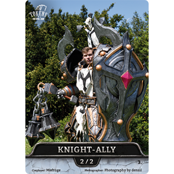 Tokens for MTG - Cosplay Token Knight Ally 2/2 (10 pcs)