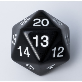 Blackfire Dice - D20 Countdown Die 55 mm - Black