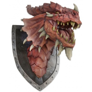 Dungeons & Dragons - Red Dragon Trophy Plaque Prop Replica 75x60x45cm