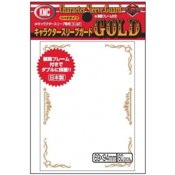60 pcs KMC Character Guard Sleeves GOLD Standard Size