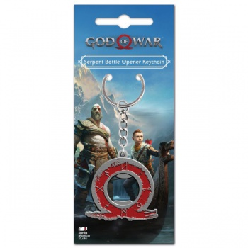 God of War Keychain - Serpent Logo Bottle Opener