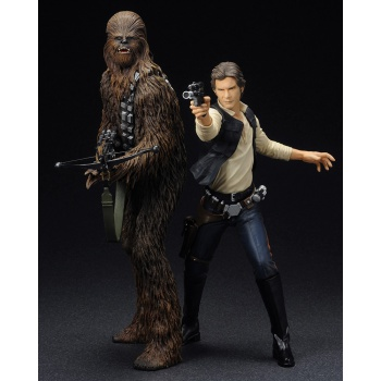 Star Wars ARTFX+ Series - Han Solo & Chewbacca Statue 2-Pack (Model Kit) 19cm / 21cm