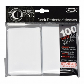UP - Standard Sleeves - PRO-Matte Eclipse - Arctic White (100 Sleeves)