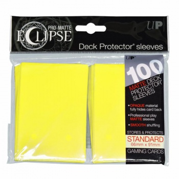 UP - Standard Sleeves - PRO-Matte Eclipse - Lemon Yellow (100 Sleeves)