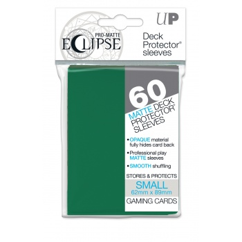 UP - Small Sleeves - PRO-Matte Eclipse - Forest Green (60 Sleeves)