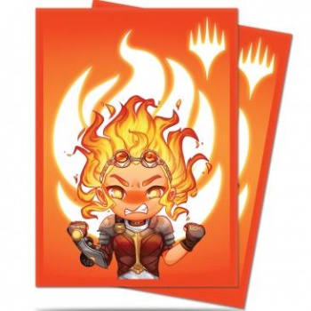 UP - Standard Deck Protector - Chibi Collection Chandra - Maximum Power for Magic (100 Sleeves)