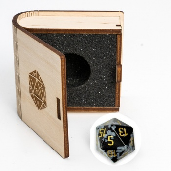 Blackfire Gemstone Dice - Snow Flake