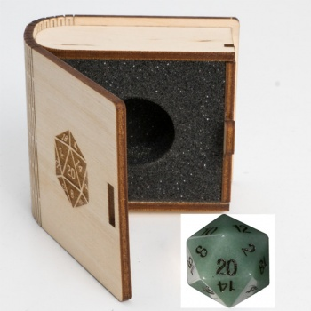 Blackfire Gemstone Dice - Green Aventurine