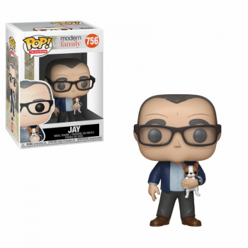 Funko POP! Modern Family - Jay w/Dog Vinyl Figure 10cm