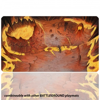 Blackfire Playmat - Battleground Edition Mountain - Ultrafine 2mm