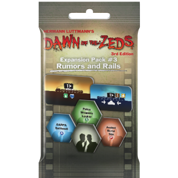 Dawn of the Zeds (3rd Ed.) Expansion Pack #3 Rumors and Rails - EN