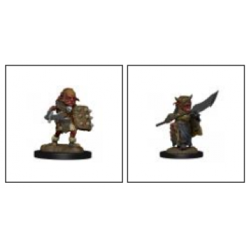 WizKids Wardlings Painted RPG Figures: Goblin (Male) & Goblin (Female) (6 Units)
