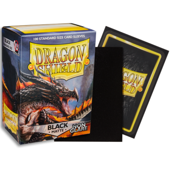 Dragon Shield Matte - Non-glare - Black Amina (100 Sleeves)