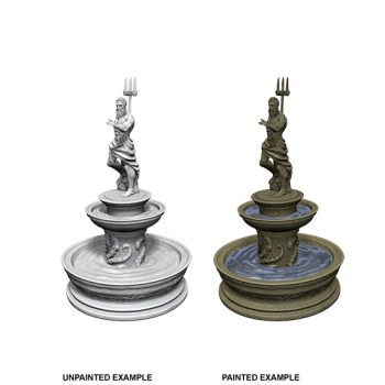 WizKids Deep Cuts Unpainted Miniatures - Fountain (6 Units)