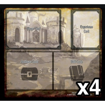 Tiny Epic Defenders 4 Pack Player Mats