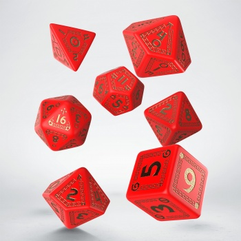 RuneQuest Red & gold Dice Set