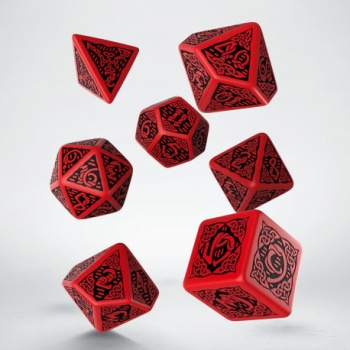Celtic Black & Red Dice Set