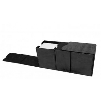 UP - Suede Collection Alcove Vault Deck Box - Jet