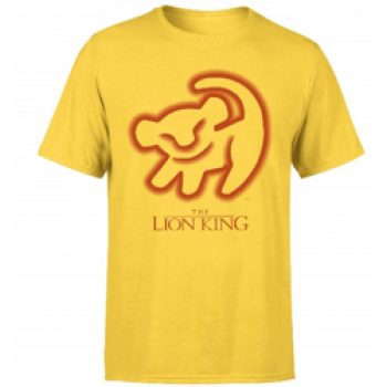 Disney Lion King Cave Drawing Men's T-Shirt - Yellow - XL