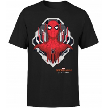 Spider Man Far From Home Web Tech Badge Men's T-Shirt - Black - M