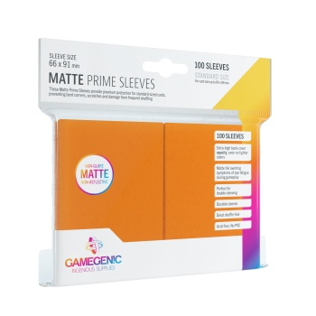 Gamegenic - Matte Prime Sleeves Orange (100 Sleeves)