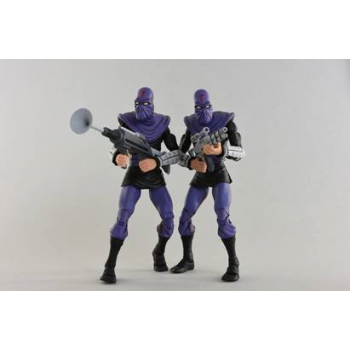 "Teenage Mutant Ninja Turtles - Cartoon Series 2 Foot Soldier ""Army Builder"" 2 pack Action Figures 18cm"