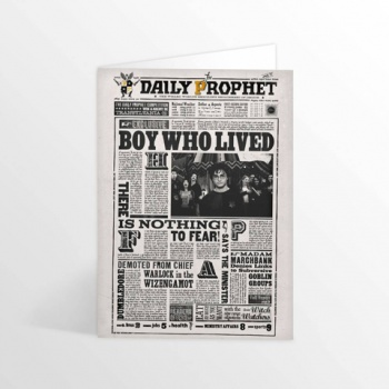 Harry Potter - The Daily Prophet - Boy Who Lived Lenticular Notecard