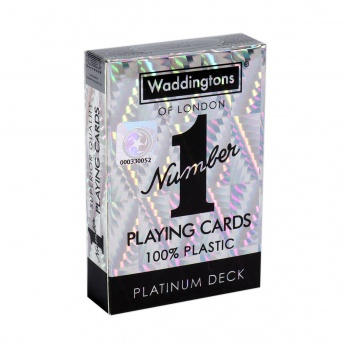 Number 1 Spielkarten - Platin Deck im Display (12 Stck) - DE
