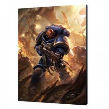 Utramarine Primaris Wood Panel - Warhammer 40K