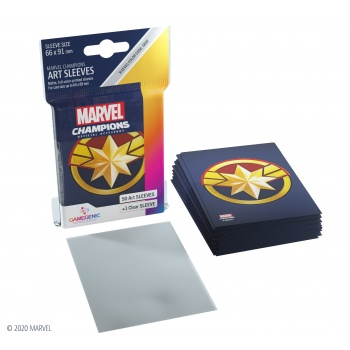 Gamegenic - Marvel Champions Art Sleeves - Captain Marvel (50+1 Sleeves)