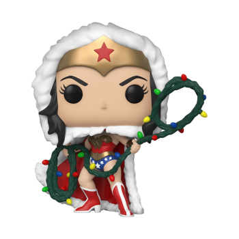 POP Heroes: DC Holiday - Wonder Woman w/ Lights Lasso Vinyl Figure 10cm