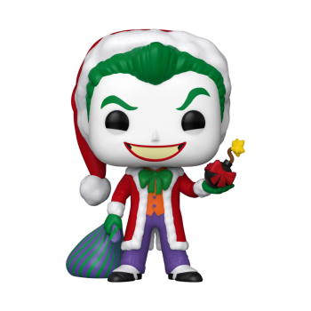 POP Heroes: DC Holiday - Santa Joker Vinyl Figure 10cm