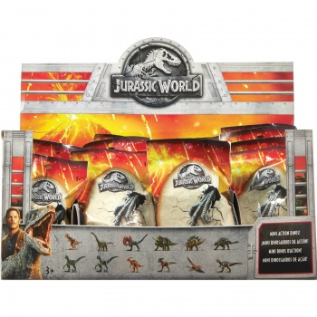 Jurassic World Mini Action Dinos Blindpack Sortiment im Thekendisplay	(24)