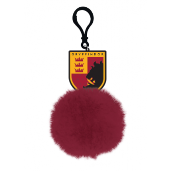 Pom Pom Keychain - Harry Potter (Gryffindor Shield)