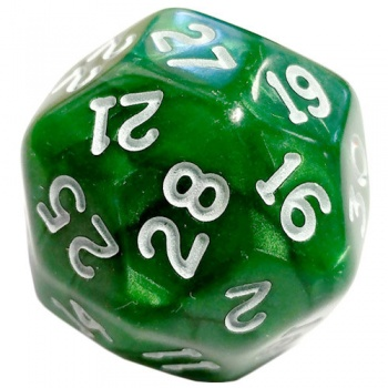 Chessex Pearlescent 30-Sided Dice Green/White