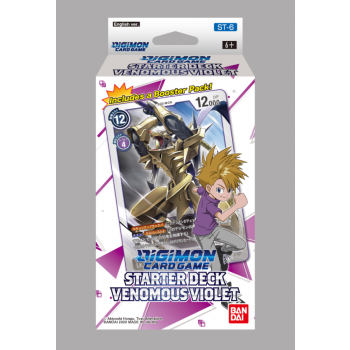 Digimon Card Game - Starter Deck Display Venomous Violet ST-6 (6 Decks) - EN