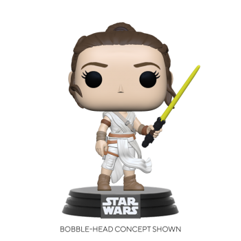Funko POP! POP Star Wars: SWEp9 - Rey w/ Yellow Saber Vinyl Figure 10cm
