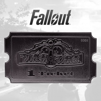 Fallout Nuka World Silver Plated Ticket