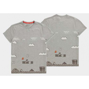 Nintendo - 8Bit Super Mario Bros Scene Men's T-shirt