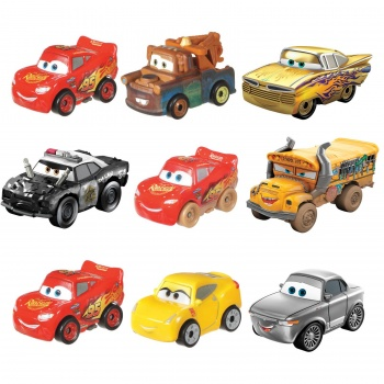 Disney Pixar Cars Mini Racers 3er- Blister-Pack Sortiment (6)