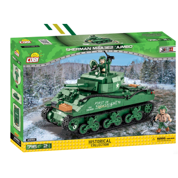 "Cobi - Historical Collection World War II Sherman M4A3E2 ""Jumbo"""