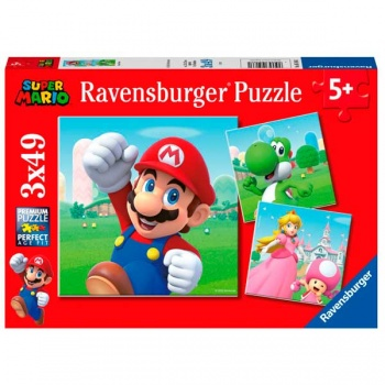 Ravensburger - Super Mario 3x49pc