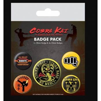 Cobra Kai (No Mercy)Badge Pack