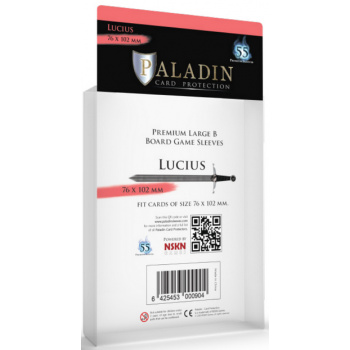 Paladin Sleeves - Lucius Premium Large B 76x102mm (55 Sleeves)
