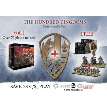 Conquest: Core Box with Militia and Household Knights Bundle - DE