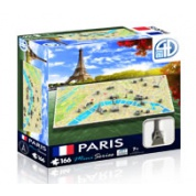 4D Cityscape - Paris Mini Puzzle