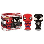 Funko POP! Homeware - Marvel Spider-Man + Black Suit Spider-Man Salt & Pepper Shaker Set (2)