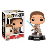 Funko POP! Star Wars Episode VII The Force Awakens - Rey Battle Pose with Lightsaber Bobble Head 10cm