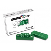 UP - Gravity Dice D6 - Emerald - 2 Dice Set